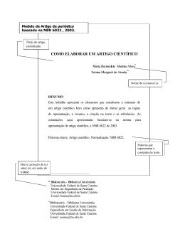 como elaborar um artigo científico - BU/UFSC