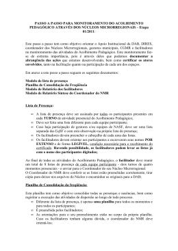 Passo a Passo monitoramento AP - NEPS – Microrregião Porto