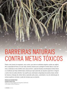 BARREIRAS NATURAIS CONTRA METAIS TÓXICOS