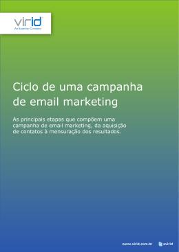Ciclo de uma campanha de email marketing