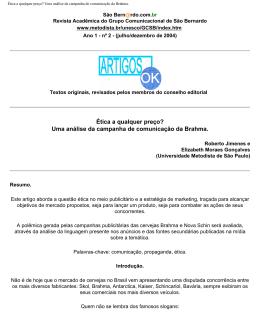 Ética a qualquer preço? - Universidade Metodista de São Paulo