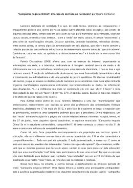 """""""Campanha negocia Dilma!"""". Um caso de derrisão no Facebook"""