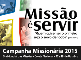 apresentação da Campanha Missionária