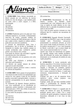 E1 Suellen de Oliveira Biologia I www.aliancaprevestibular.com 1