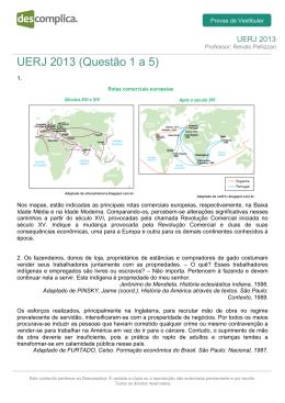 UERJ 2013 (Questão 1 a 5)