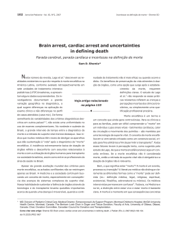 Brain arrest, cardiac arrest and uncertainties in defining death