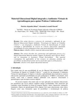 Material Educacional Digital integrado a Ambientes
