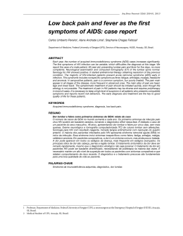 Low back pain and fever as the first symptoms of AIDS: case report