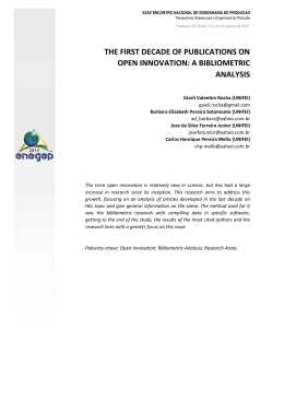 the first decade of publications on open innovation: a