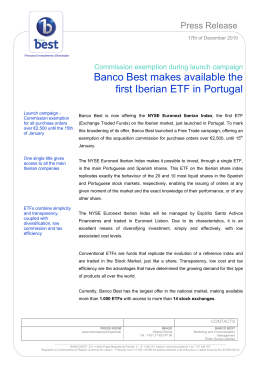 Banco Best makes available the first Iberian ETF in Portugal