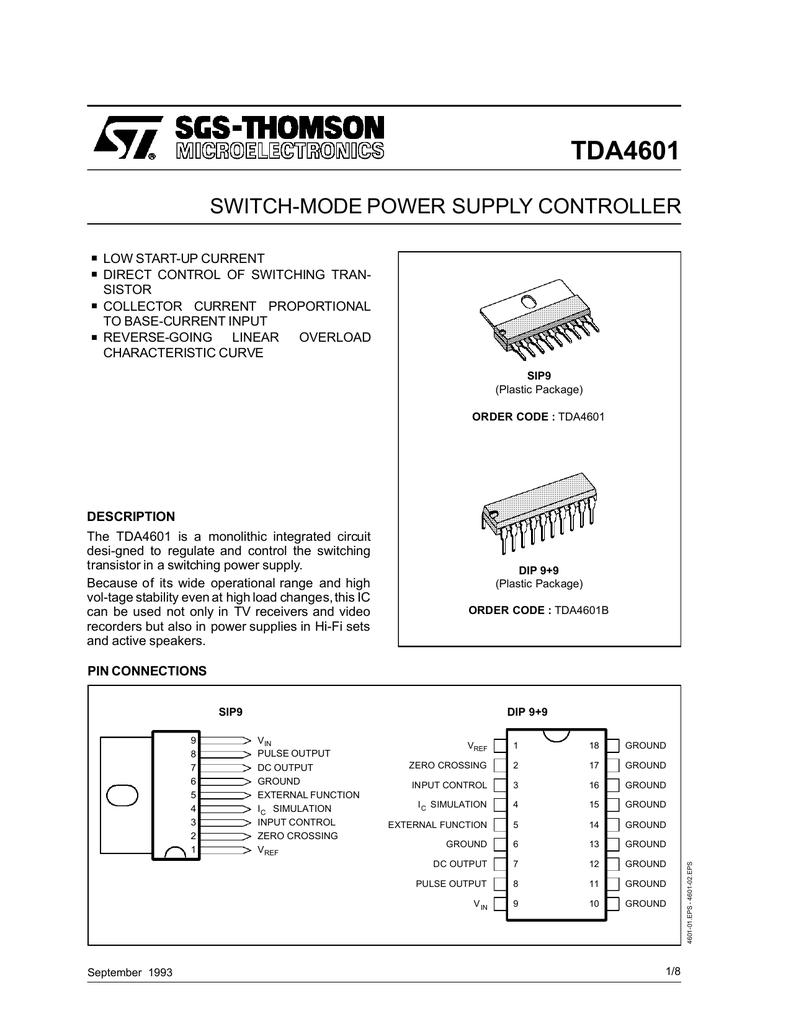 TDA4601 PDF