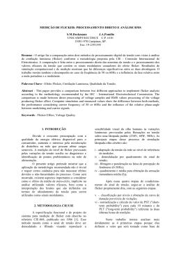 medição de flicker: processamento direto e análise rms.