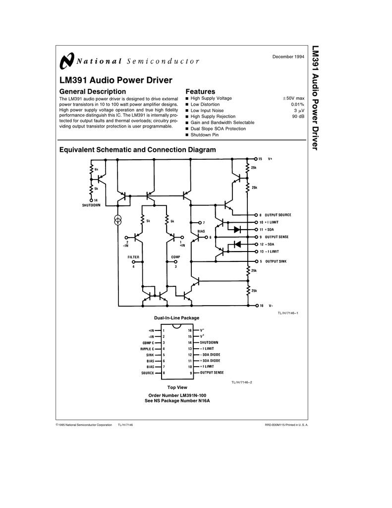 Lm391 Audio Power Driver 40w 2 Ohm 24w 4 Ohms Bridge Amplifier 001661178 1 1734b0c0e179f62492645fab4fb0c56c