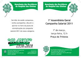 1ª Assembleia Geral Campanha Salarial 2011