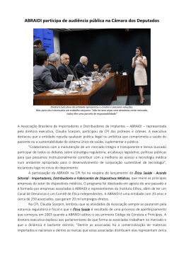 ABRAIDI participa de audiência pública na Câmara dos Deputados