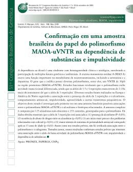Confirmação em uma amostra brasileira do papel do polimorfismo
