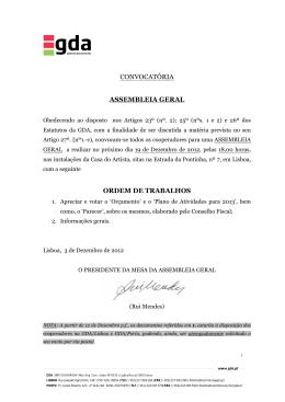 PDF Convocatória Assembleia Geral