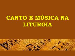 Canto e Música na Liturgia (Pe. Edson Luis