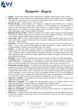 Basquete –Regras
