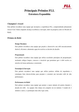 Principais Prêmios FLL