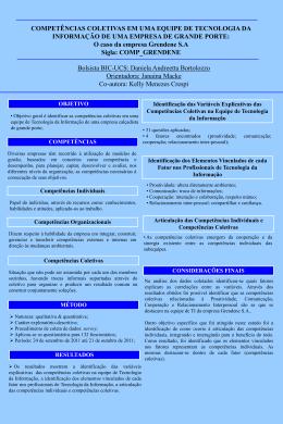 COMPETÊNCIAS COLETIVAS EM UMA EQUIPE DE TECNOLOGIA