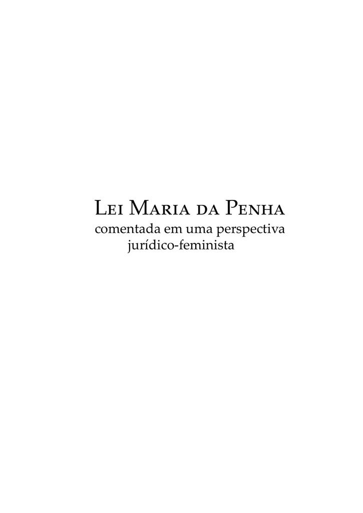 Lei Maria da Penha Comentada em uma Perspectiva Jurídico