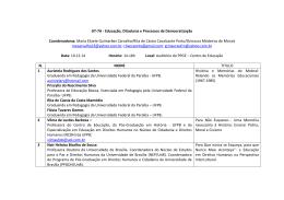 Lista GT 7 - CCHLA - Universidade Federal da Paraíba