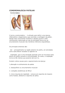 CONDROMALÁCIA PATELAR