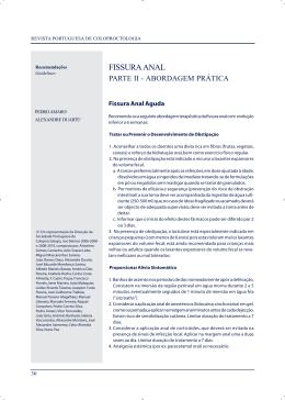 Fissura Anal Parte II - Sociedade Portuguesa de Coloproctologia
