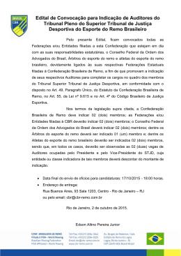 Edital indicação Auditores STJD