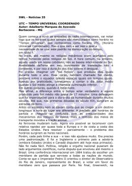 SWL - Notícias 35 UTC – TEMPO UNIVERSAL
