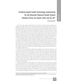 Evidence-based health technology assessments for the Brazilian