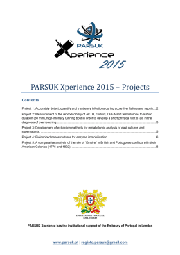PARSUK Xperience 2015 – Projects