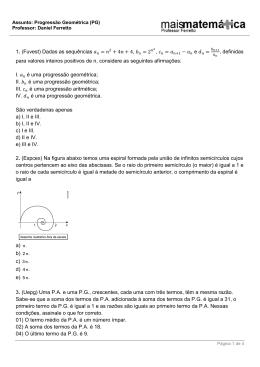 Progressão Geométrica (PG)