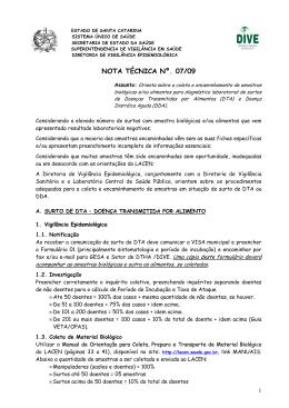 Nota Técnica 07/09 - DTA-DDA