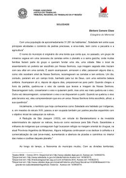 Soledade - Tribunal Regional do Trabalho da 4ª Região