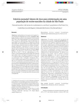 Icterícia neonatal: fatores de risco para reinternação em uma