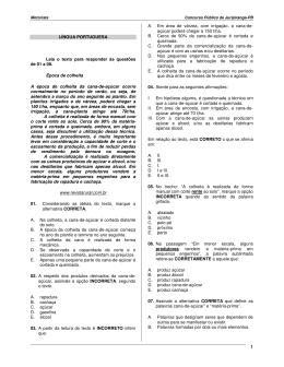 1 LÍNGUA PORTUGUESA Leia o texto para responder