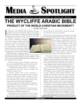 The Wycliffe Arabic Bible