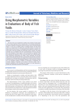 Using Morphometric Variables in Evaluations of