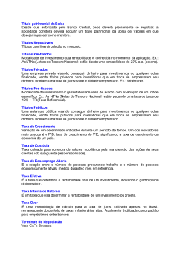Glossário T - Banco do Brasil