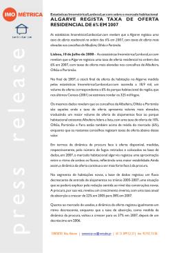 ALGARVE REGISTA TAXA DE OFERTA