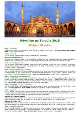 Réveillon na Turquia 2015 10 dias / 09 noites