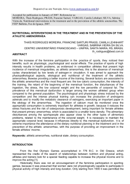 Nutritional interventions in the treatment and in the prevention of the