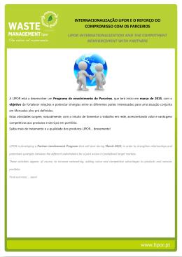 internacionalização lipor e o reforço do compromisso com os
