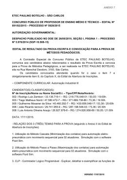 Edital Nº 091/02/2015 - ETEc Paulino Botelho