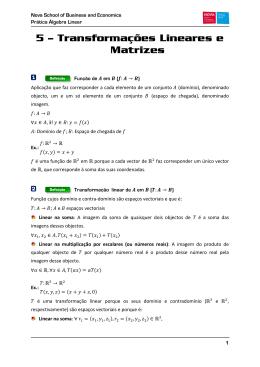 5 – Transformações Lineares e Matrizes