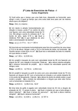 2 Lista de Exercícios de Física – I