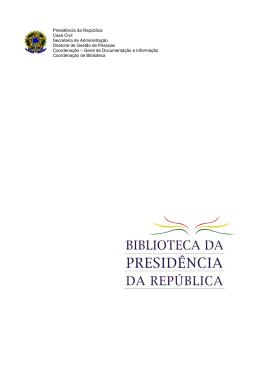 Presidência da República Casa Civil Secretaria de Administração