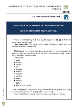 Consoantes Eliminadas - Agrupamento de Escolas Serra da